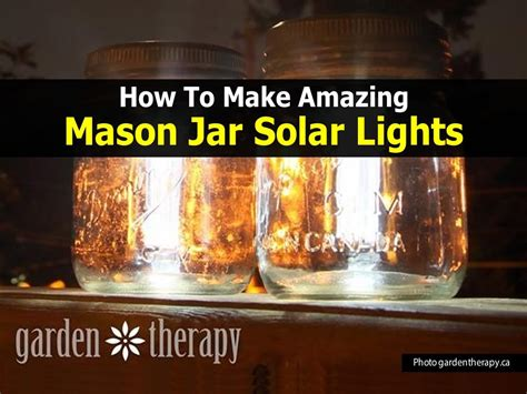 how to make outdoor solar lights how to make mason jar solar lights easy diy project