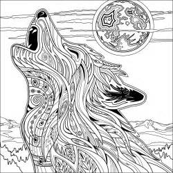 Adult Wolf Printable Coloring Pages