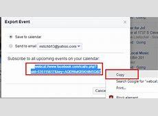 Facebook Import Events to Google Calendar