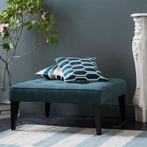 west elm ottoman upholstered tufted ottoman west elm