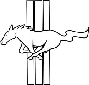 mustang logo zeichnen lernen schritt fuer schritt tutorial