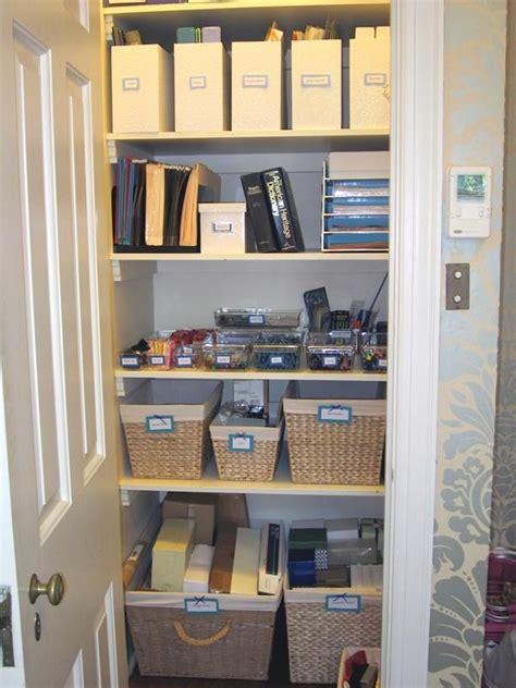 organized office supply closet closet to office