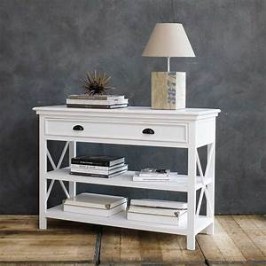 table console en pin blanc l 120 cm maison du monde With maison du monde newport