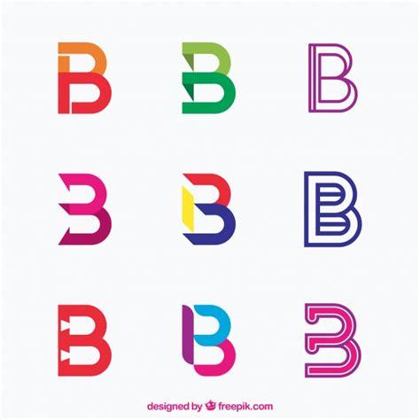 sekretär modern design multicolor letter b logo collection baixar vetores gr 225 tis