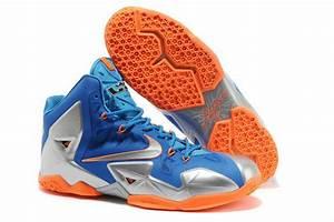 Nike Lebron James 11 Light Blue Silver Orange Shoes - $82.00