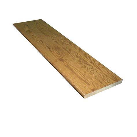 oak stair treads home depot stairtek 1 in x 11 5 in x 48 in prefinished marsh red oak tread btro114800350 the home depot