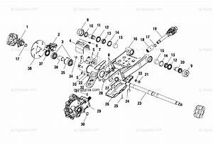 Polaris Atv 2001 Oem Parts Diagram For Swing Arm  Rear
