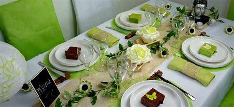 decoration de table zen  nature ruban dentelle naturel