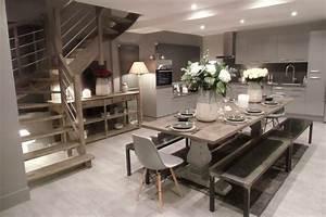 la cuisine salle a manger With deco cuisine pour table fer et bois salle manger