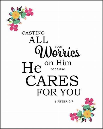 Peter Cares Verses Casting Bible Verse