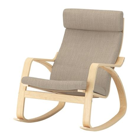 chaise bascule ikea poäng rocking chair hillared beige ikea