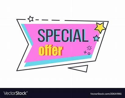 Special Promo Offer Advert Vector Sticker Stars