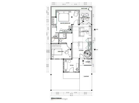 ide terbaru denah rumah minimalis modern   arsitag