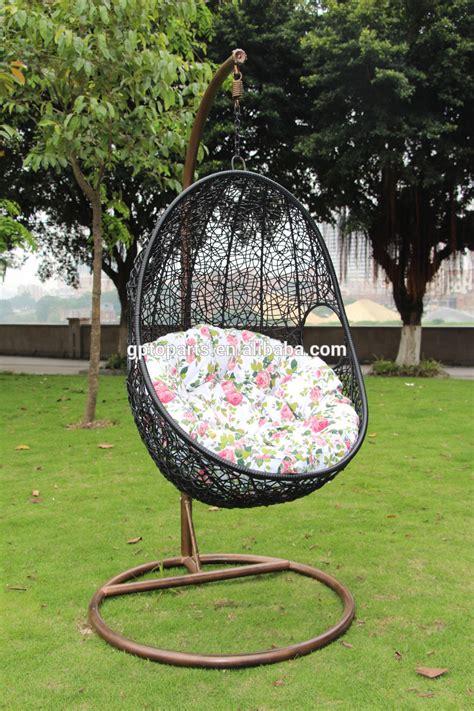 wicker rattan swing bed chair weaved egg shape hanging