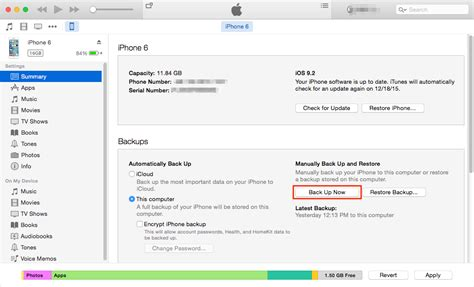 where is backup on iphone how to backup iphone 6 6s to computer in 2 ways