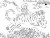 Coloring Pages Gypsy Rousseau Sheets Printable Adults Henri Jungles Fantastic sketch template