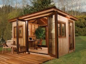 Beautiful Office Shed Plans by Diy Backyard Office By Cedarshed Slashgear