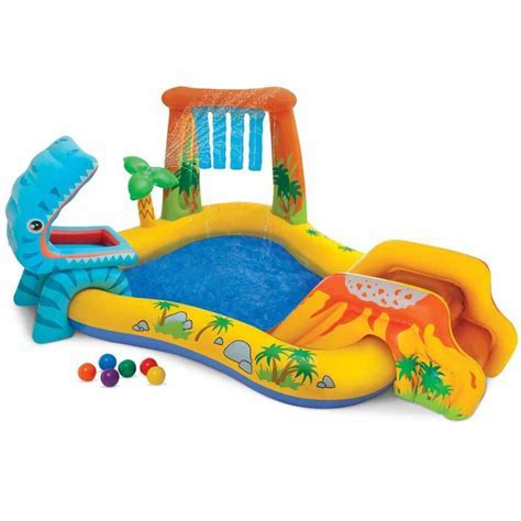 Paddling inflatable pool with sprinkler Intex 57444 Dinosaur Play Center