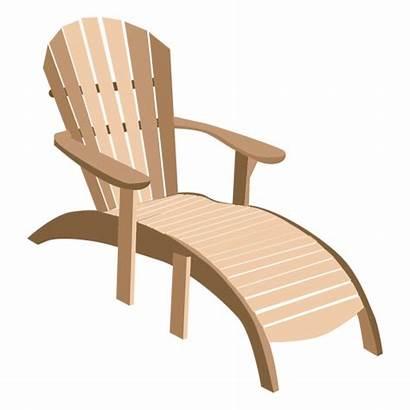 Adirondack Transparent Wooden Sun Chair Lounger Svg