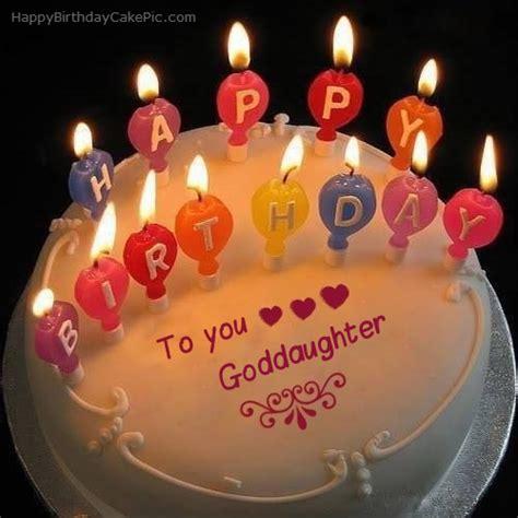 candles happy birthday cake  goddaughter