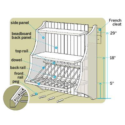 build  plate rack woodworking projects plans