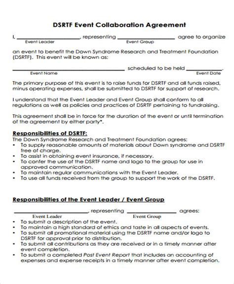 collaboration agreement template   apple pages