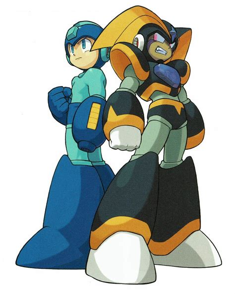 Mega Man And Bass Rockman And Forte Promotional Artwork