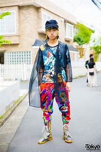 Japanese, Fashion, Student, In, Colorful, Graphic, Style, W, Dog
