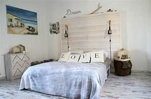 Idee Deco Tete De Lit : d co chambre diy t te de lit c t maison ~ Melissatoandfro.com Idées de Décoration