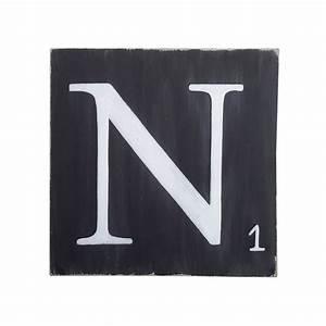 Lettre En Bois A Poser : lettres d co noir 10 cm en bois ~ Teatrodelosmanantiales.com Idées de Décoration