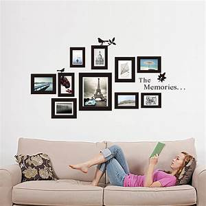 Picture photo frame wall mural black frames sticker