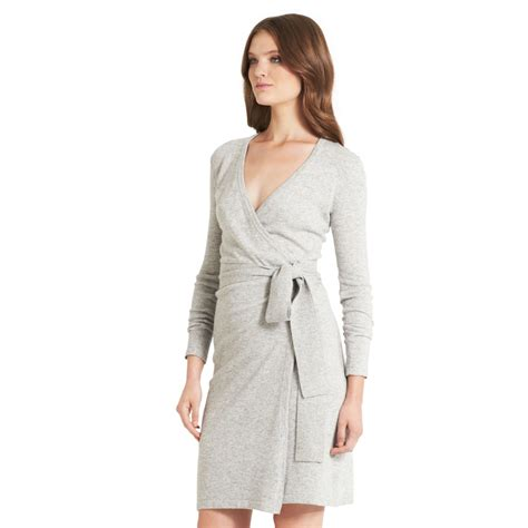 dvf iphone cases diane furstenberg wool wrap dress in gray lyst