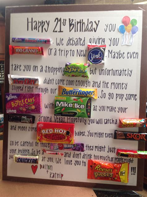 Birthday party favors, 15 fun birthday cakes for kids and birthday tic tac labels. 21st Birthday candy card!   Candy bar posters, Bar card ...