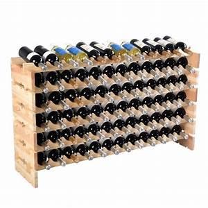 Étagère à vin Casier à vin porte bouteille 72 bouteilles support range bouteille Achat / Vente
