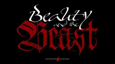 beauty   beast font tattoo pinterest beauty