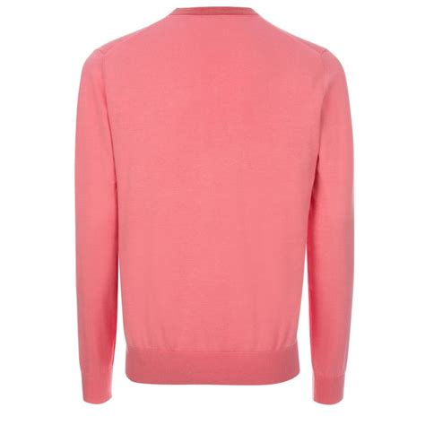 fuchsia sweater paul smith 39 s pink v neck cotton sweater with striped