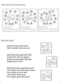 good afternoon song preschool greetings in printable resources 229