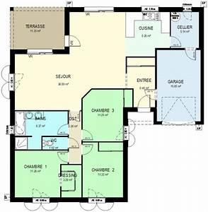 plan maison plain pied 100m2 plan maison 3d gratuit With beautiful plan de maison 150m2 3 avis sur plan de maison plain pied de 150m2 36 messages