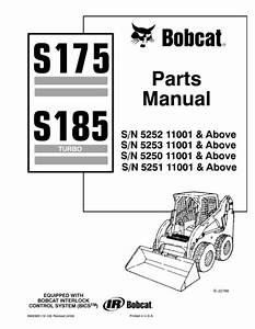 Bobcat S175 S185 Parts Manual 6902826 For Sale Online