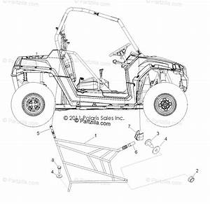 Polaris Side By Side 2012 Oem Parts Diagram For Body  Side