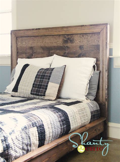 diy headboards for beds ana white hailey planked headboard diy projects