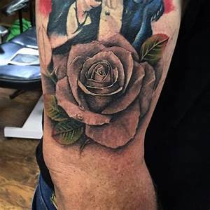 Cap1 Tattoos : Tattoos : Example : Black And Grey Rose Tattoo