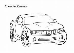 Super car Chevrolet Camaro coloring page, cool car ...