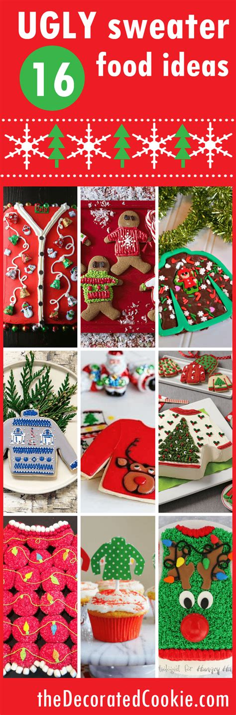 roundup of ugly sweater food ideas for your ugly sweater