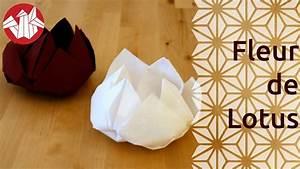 Fleur En Papier Serviette : origami fleur de lotus lotus flower senbazuru youtube ~ Melissatoandfro.com Idées de Décoration