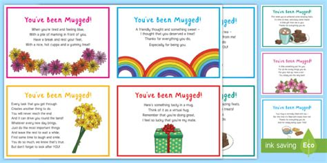 staff wellbeing youve  mugged staff act  kindness pack