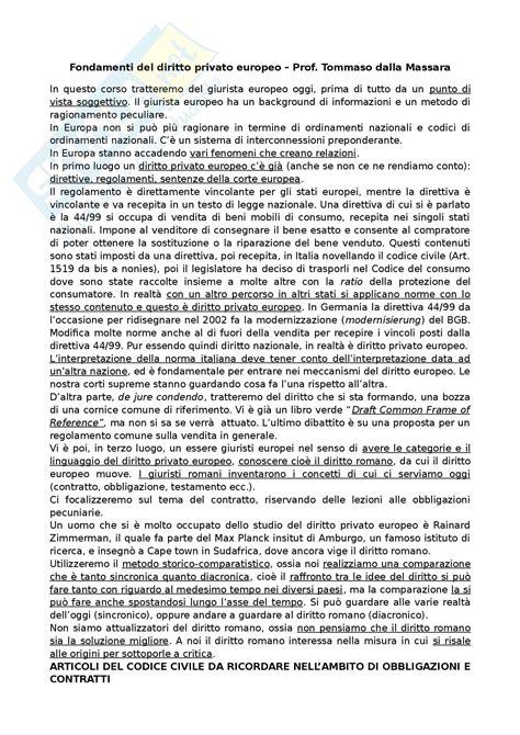 dispensa diritto privato fondamenti diritto privato europeo appunti