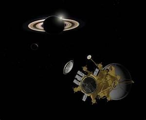 Titan orbiter releasing ESA Titan lander
