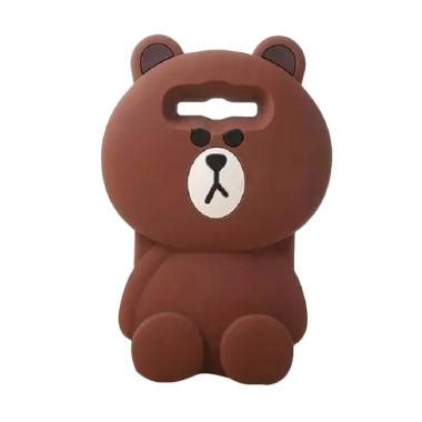 softcase 3d brown line jual silicon 3d kartun teddy brown line softcase