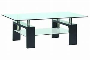 Table Basse Pied Bois : table basse en verre pied en bois gloria design sur sofactory ~ Teatrodelosmanantiales.com Idées de Décoration